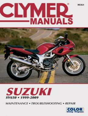 Suzuki SV650 Series Motorcycle (1999-2009) Service Repair Manual