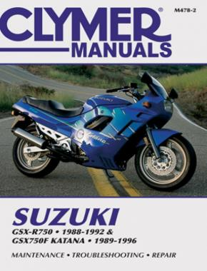 Suzuki GSX-R750 (1988-1992) & GSX750F Katana (1989-1996) Motorcycle Service Repair Manual