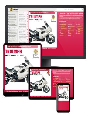 Triumph Triples and Fours (carburettor engines) (1991-2004) Haynes Online Manual