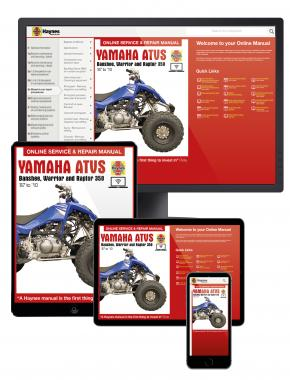 Yamaha Banshee, Warrior, & Raptor 347cc & 348cc models (87-10) Haynes Online Manual