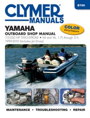 Yamaha 115-250 HP 2-Stroke Outboard & Jet Drives (1999-2010) Service Repair Manual