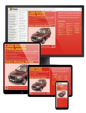 Land Rover Freelander Petrol & Diesel Haynes Manual Online covering (1997 to Sept 03) R to 53
