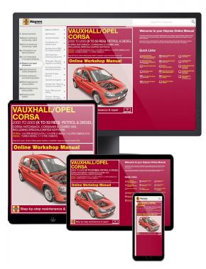 Vauxhall/Opel Corsa petrol & diesel Haynes Manual Online covering 2000 to 2003