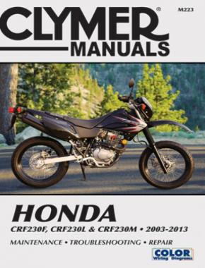 Honda CRF230F (2003-2013), CRF230L & CRF230M (2008-2009) Motorcycle Service Repair Manual