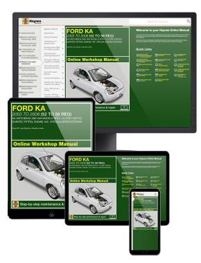 Ford Ka Haynes Manual Online covering 2003-2008