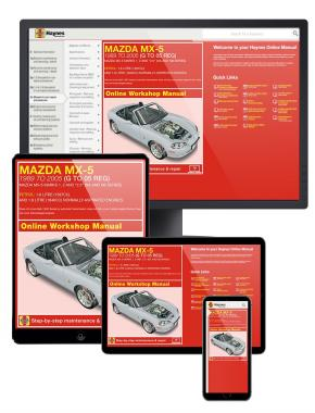 Mazda MX-5 Petrol (1989-2005) G to 05 Haynes Online Manual