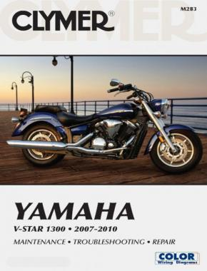 Yamaha V-Star 1300 Series Motorcycle (2007-2010) Service Repair Manual Online Manual