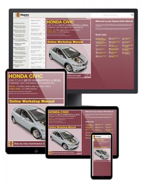 Honda Civic Petrol and Diesel Haynes Manual Online covering 2006 - 2012