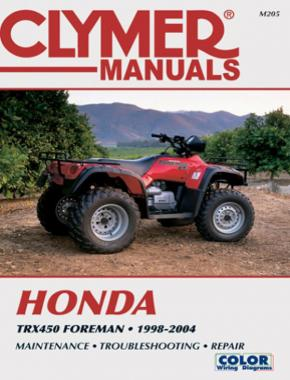 Honda TRX450 Foreman Series ATV (1998-2004) Service Repair Manual Online Manual