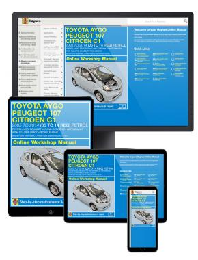 Toyota Aygo, Peugeot 107 & Citroen C1 petrol (05-June 14) 05 to 14 Haynes Manual Online