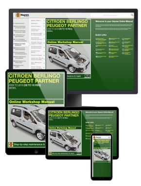 Citroen Berlingo & Peugeot Partner Diesel (June 2008-2016) 08 to 16 Haynes Online Manual
