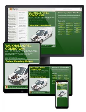 Vauxhall/Opel Combo Diesel Van (Oct 2001 to Jan 2012) 51 to 61 Haynes Online Manual