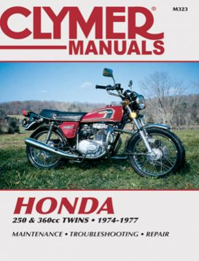 Honda 250 & 360 CC Twins Motorcycle (1974-1977) Service Repair Manual