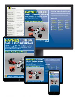 Small Engine Repair 5.5 HP through 20 HP Haynes Online Techbook (USA)