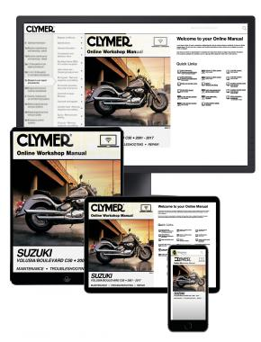 Suzuki Volusia (2001-2004) & Boulevard C50 (2005-2017) Clymer Online Repair Manual