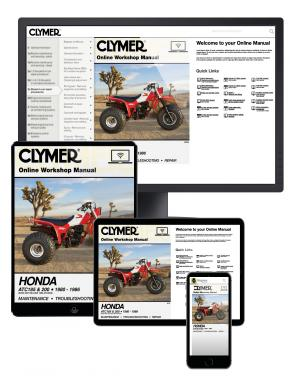 Honda ATC185 & ATC200 Series ATV (1980-1986) Clymer Online Repair Manual