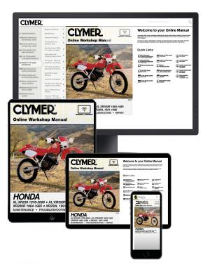 Honda XL/XR250 (1978-2000) & XL/XR350R (1983-1985) Clymer Online Manual