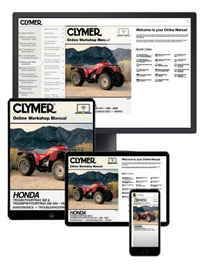 Honda TRX300/Fourtrax 300 & TRX300FW/Fourtrax 300 4x4 (1988-2000) Clymer Online Manual