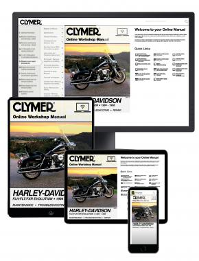 Harley-Davidson Road King, Electra, Tour Glide, Low Rider Motorcycle (1984-1998) Clymer Online Manual