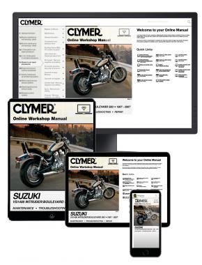 Suzuki VS1400 Intruder / Boulevard S83 Motorcycle (1987-2007) Clymer Online Manual