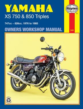 Yamaha XS750 & 850 Triples (76 - 85) Haynes Repair Manual