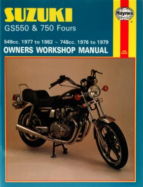 Suzuki GS550 (77 - 82) & GS750 Fours (76 - 79) Haynes Repair Manual