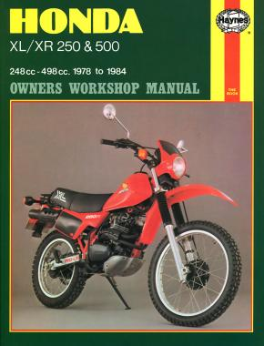 Honda XL/XR 250 & 500 (78 - 84) Haynes Repair Manual