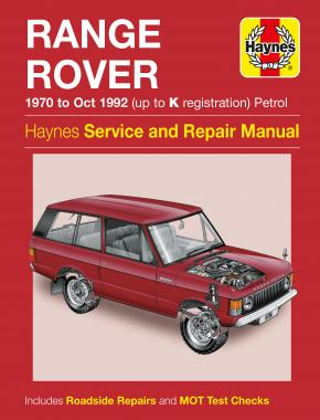 Range Rover V8 Petrol (70 - Oct 92) Haynes Repair Manual