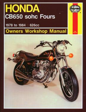 Honda CB650 sohc Fours (78 - 84) Haynes Repair Manual