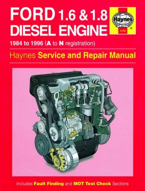 Ford 1.6 & 1.8 litre Diesel Engine (84 - 96) Haynes Repair Manual