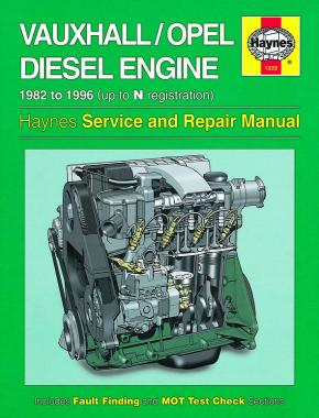 Vauxhall/Opel 1.5, 1.6 & 1.7 litre Diesel Engine (82 - 96) Haynes Repair Manual