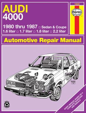 Audi 4000 (Sedan & Coupe) (1980-1987) Haynes Repair Manual (USA)