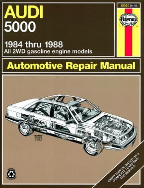 Audi 5000 2WD petrol 1984 -1988 Haynes Repair Manual