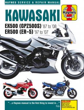 Kawasaki EX500 (GPZ500S) & ER500 (ER-5) (87 - 08) Haynes Repair Manual