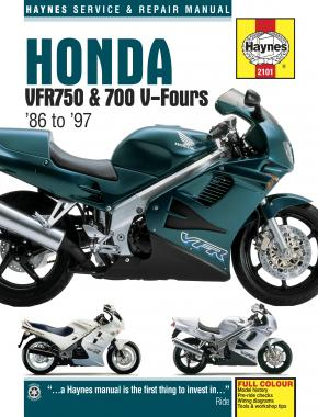 Honda VFR750 & 700 V-Fours (86 - 97) Haynes Repair Manual