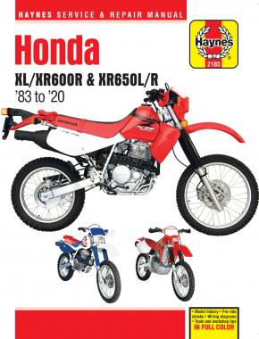Honda XL/XR600R & XR650L/R (83-20) Haynes Repair Manual