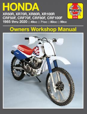 Honda XR50/70/80/100R & CRF50/70/80/100F (85 - 20) Haynes Repair Manual