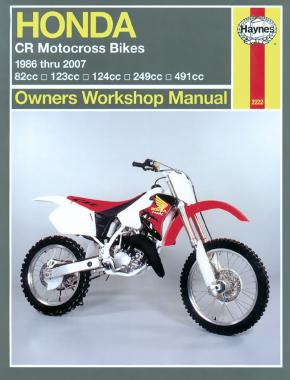 Honda CR Motocross Bikes (86 - 07) Haynes Repair Manual