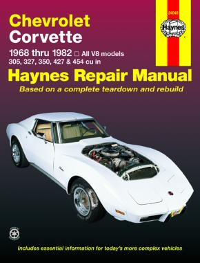 Chevrolet Corvette (1968-1982) Haynes Repair Manual (USA)