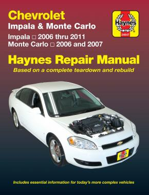 Chevrolet Impala (2006-2011) & Monte Carlo (2006-2007) Haynes Repair Manual (USA)