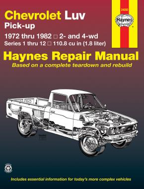 Chevrolet Luv Pick-up petrol (1972-1982) petrol Haynes Repair Manual (USA)