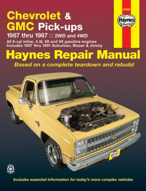 Chevrolet & GMC 4.3L V6 & V8 petrol pick-ups (1967-1987) & Suburban, Blazer & Jimmy (1967-1991) Haynes Repair Manual (USA)