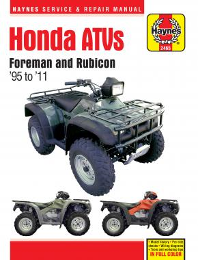 Honda ATVs Foreman & Rubicon (95 - 11) Haynes Repair Manual