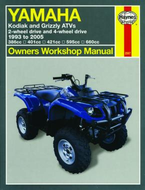 Yamaha Kodiak & Grizzly ATVs (93 - 05) Haynes Repair Manual