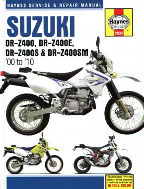 Suzuki DR-Z400/Z400E/Z400S/Z400SM (00 - 10) Haynes Repair Manual