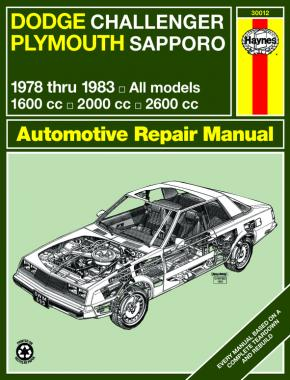 Dodge Challenger & Plymouth Sapporo (1978-1983) Haynes Repair Manual (USA)