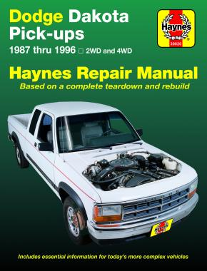 Dodge Dakota Pick-up (1987-1996) Haynes Repair Manual (USA)