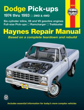 Dodge Ramcharger & Trailduster full-size pick-ups (1974-1993) Haynes Repair Manual (USA)