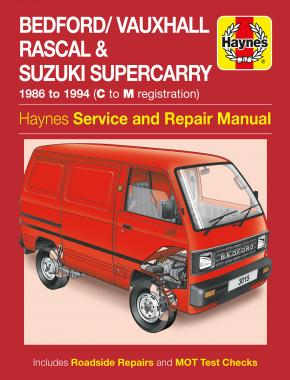 Bedford/Vauxhall Rascal & Suzuki Supercarry (86 - Oct 94) Haynes Repair Manual