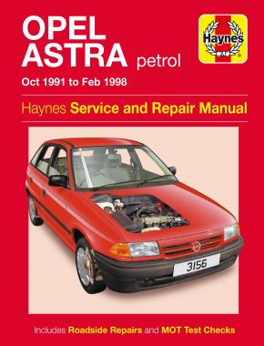 Opel Astra Petrol (Oct 91 - Feb 98) Haynes Repair Manual